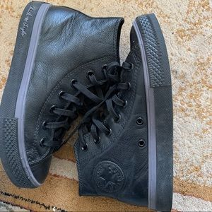 Leather High Top Converse with Box